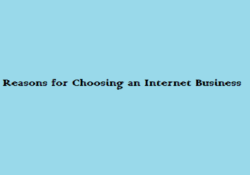 Reasons for Choosing an Internet Business